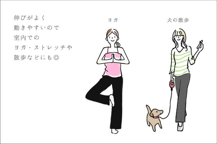 ヨガ 犬の散歩 イラスト