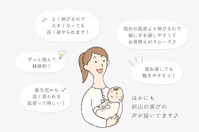 26c825f2b64c5 ことりオリジナル紡績の極上ウールはウール100%なのに、伸縮性があり化繊の様に伸びるので赤ちゃんが動きやすいのはもちろんお着替えの時、腕を通しやすく迎え手をする  ...